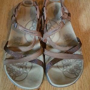 Merrell Lattice Q Form Air Cushion Strappy Sandals